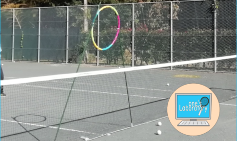 ソフトテニス「的当て」を作ってみました。