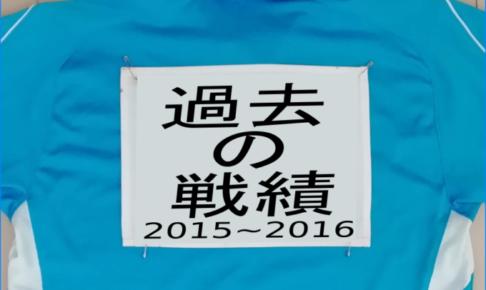 過去の戦績 2015年4月~2016年3月
