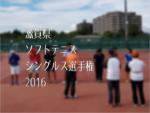 滋賀県ソフトテニス・シングルス選手権2016