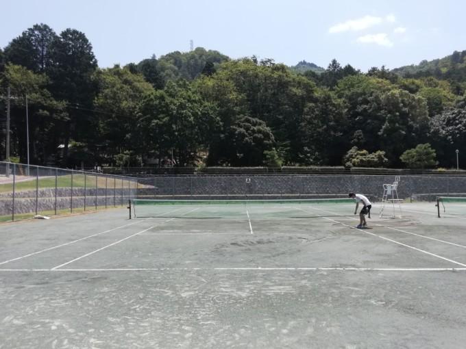 滋賀県東近江市 やわらぎの郷テニスコート