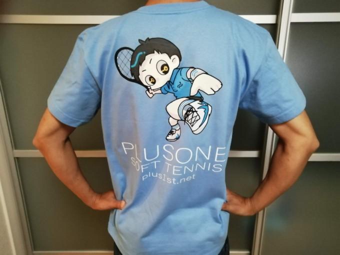 プラスワン・ソフトテニス オリジナルTシャツ【2】 イラスト:みひろ