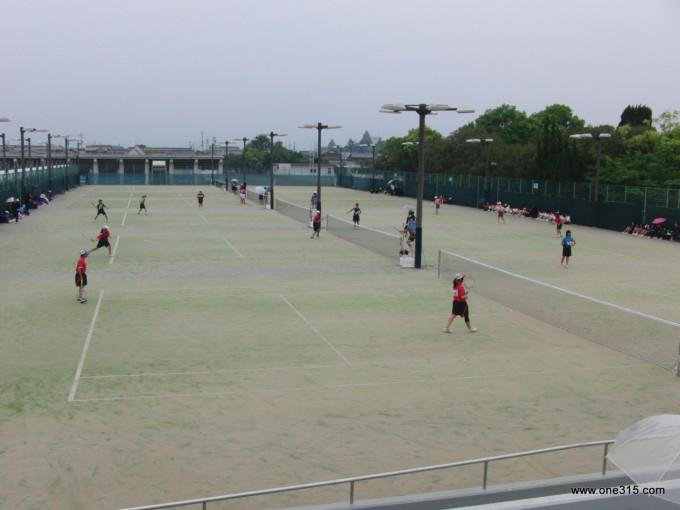 ソフトテニス 滋賀県中学春季大会2012