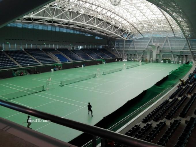 神奈川県横浜市 横浜国際プール テニスコート
