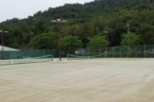 滋賀県近江八幡市 安土町文芸の郷あづちマリエート テニスコート