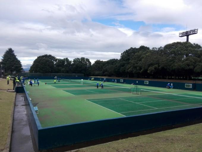 群馬県前橋市 前橋総合運動公園テニスコート プラスワンソフトテニス