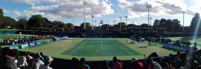 群馬県前橋市 前橋総合運動公園テニスコート プラスワンソフトテニス 全日本選手権2017