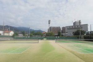 滋賀県大津市 皇子山総合運動公園テニスコート  プラスワンソフトテニス