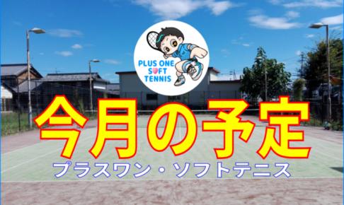 予定と案内 今月の予定 2020年 プラスワン ソフトテニス練習会/スポンジボールテニス 滋賀県 フレッシュテニス ショートテニス ソフトテニスチーム