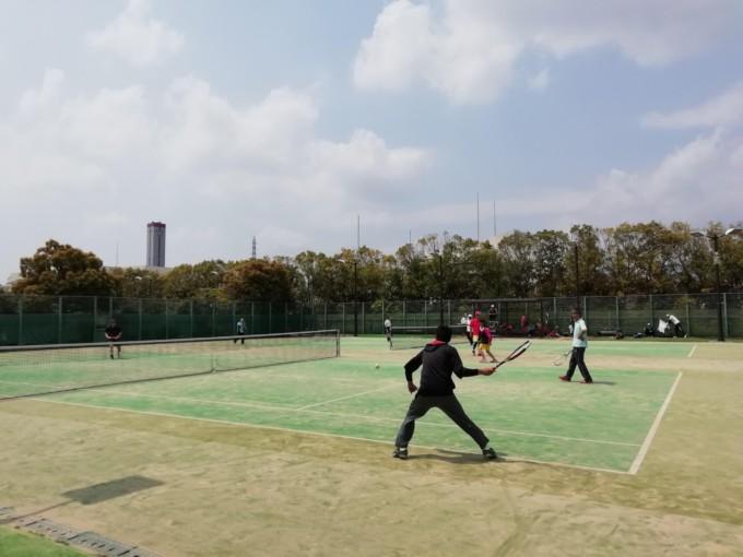 京都府長岡京市 洛西浄化センター公園テニスコート プラスワンソフトテニス
