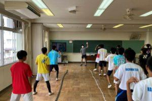 2021/06/19(土) 出張リズムトレーニング 八幡工業高校ソフトテニス部様 リズムジャンプ リズムステップ