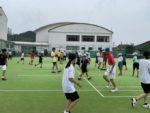 2021/07/04(土) 出張リズムトレーニング@滋賀県近江八幡市 安土ジュニアソフトテニススポーツ少年団 リズムトレーニング リズムジャンプ