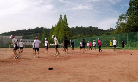 2021/08/24(火) 出張リズムトレーニング@水口東高校中学校・女子ソフトテニス部様