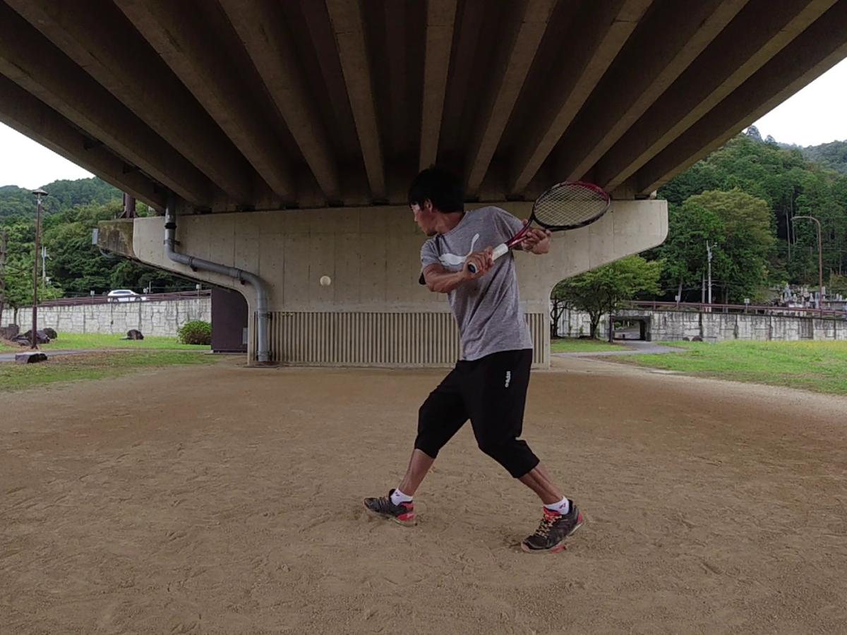 2021/09/08(水) ソフトテニス・自主練習会【滋賀県】壁打ち 片手バックハンドストローク