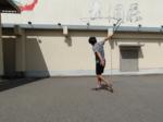 2021/09/19(日) ソフトテニス・自主練習会【滋賀県】壁打ち 片手バックハンドストローク