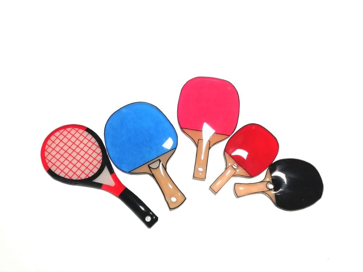 ソフトテニス&卓球のラケット型ストラップを作ってみました レジンアクセサリー キーホルダー